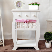 White Brown Bedside Table Storage Unit Shabby Chic Drawers Bedroom Furniture