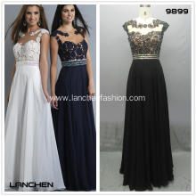 Woman's Sexy Cap Sleeve Prom Dresses