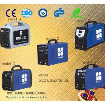 Portable Mosfet DC inversor máquina de soldadura (MMA-160/180/200)