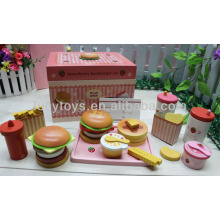 Fresa hamburguesa juego de alimentos juguete