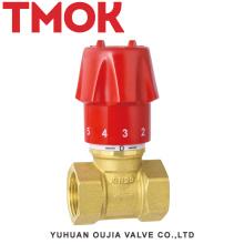 DN15 brass chrome plated manual adjustment stop valve