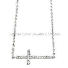 Мода стерлингового серебра 925 пробы с крестом ожерелье (KN3011)