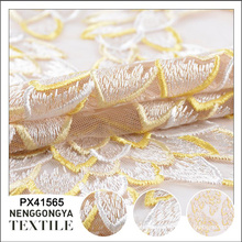 Made in China Verschiedene Arten von weichen dekorativen bestickten Saree Stoff