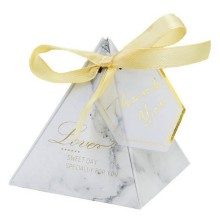 Marble candy box with gold printing