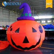 Inflable gato espíritu Ghost casa inflable calabaza de Halloween para decoraciones
