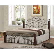Lit queen en bois, Meubles de chambre à coucher, lit double classique