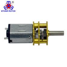 12mm 298: 1 12v de alta velocidad con engranaje motor de corriente continua