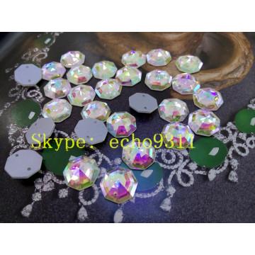 14mm Hexagon Shape Sew on Loose Glass Stones (DZ-1189)