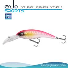 Angler Select Big Lip Crankbait Fishing Tackle Bait with Vmc Treble Hooks (SCB140607)
