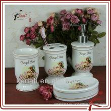 Набор керамической ванной с угловой наклейкой