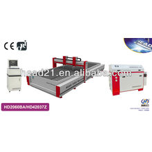 high pressure Metal/glass processing machine by water jet with 2000mm*6000mm cutting table and 420Mpa pump 4,5 axis cutting head