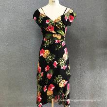 Women's cotton printed long dress