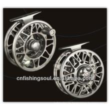 FLR004 Artes de pesca real y carrete de la mosca de la pesca con mosca de aluminio