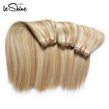 Rohes brasilianisches Jungfrau-Menschenhaar-Erweiterungs-blondes tiefes Wellen-Haar-Schuss