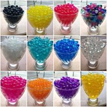 Perles d'eau, sol de boue cristalline, perles de cristaux de sol, boules de gel d'eau