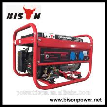 Bison China Zhejiang 3KW 6.5HP generador portátil del motor de gasolina