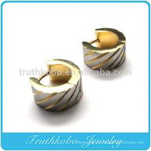 TKB-E0030 Boucles d'oreilles pendantes en acier inoxydable pour hommes, or, argent, grec, vintage
