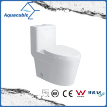 Siphonic One Piece Ceramic Toilet in White (ACT9328)