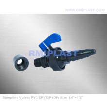 Válvula de amostragem de PVC 1/4 de polegada