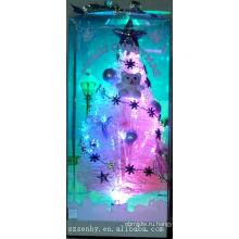 Розовый оптического волокна СИД Рождество с дерева