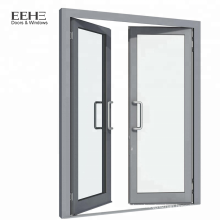 White aluminum frame swing entry bedroom door/house door