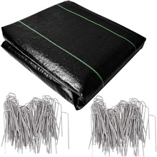 Heavy Duty Ground Cover Weed Control Mat Outdoor Gardening Woven Cloth