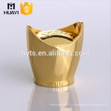 capuchon en métal zamac doré pour bouteille en verre parfum