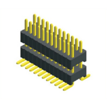 0.8mm PIN Header Dual Row Double Plastic SMT