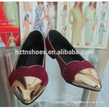 Женские балетные насосы с металлическим колпачком pointe toe