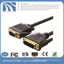 Позолоченный DVI-I-VGA 15-контактный вилочный / мужской видео кабель 10Ft