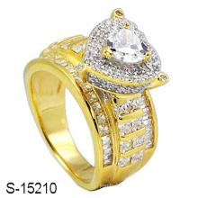 Bague fantaisie en argent sterling 925 avec diamant