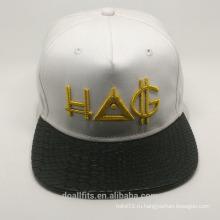 2016 мода с трехмерной эмбориерией snapback cap изготовлена из фарфора