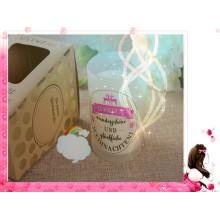 Vela perfumada de la soja del jardín mojado en lujo de cristal con la caja de regalo