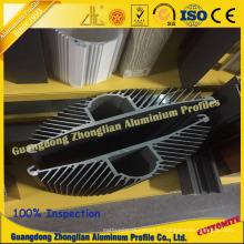 Profil en aluminium d'extrusion pour le profil en aluminium de profil de tournesol de dissipateur de chaleur