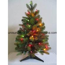 Pequeño árbol de Navidad en maceta con cereza y luz (fábrica directa)