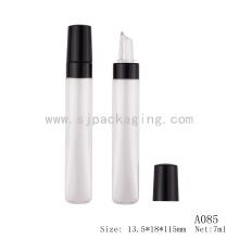 Vacío Tubo de gel de labios Tubo de compresión con aplicador de silicio gel de brillo labial empaque