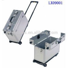 portable aluminum briefcase with wheels from China manufacturer high quality