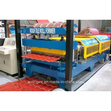 Máquina formadora de rolos de painel de parede de telha esmaltada ondulada