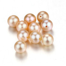 Snh 7-7.5mm Round Peach AAA Grade Freshwater Pearl Loose Beads