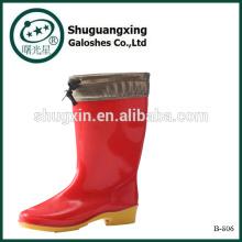 Колено высокие дождь сапоги   Сапоги для дождя   Дешевые мужские резиновые дождя сапоги B-806