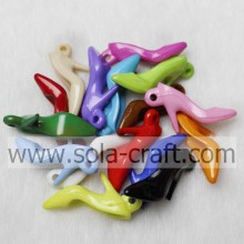 Listing Of Opaque Acrylic Crystal Heel Shape Pendant With Multi Colors And Sizes