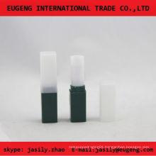 new design elegant square plastic lip balm container