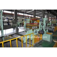 Línea de alta velocidad Línea de corte longitudinal resistente para bobina de chapa de acero para cortar bobinas HR CR