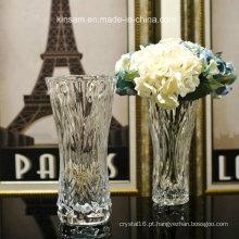Vaso de flor de cristal moderno para decoração