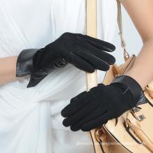 Damen / Frauen echtes Schafleder Wildleder Handschuhe