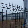 изогнутые ограждения 3D панели с покрытием границе зеленый сад проволока сетка заборная с складки в
