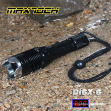 Maxtoch DI6X-6 18650 T6 Aluminum Waterpoof Attack Head Military Flashlight