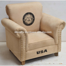 Leinwand Sofa Vintage Style