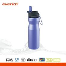 Nova garrafa de água desportiva de aço inoxidável