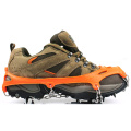Orange Portable 6-Teeth Camping Aufstieg Walking Ice Crampon